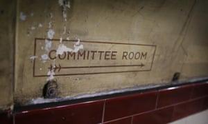 A second world war era sign in Down Street station