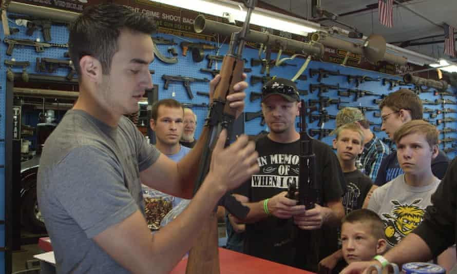 Inside gun shop