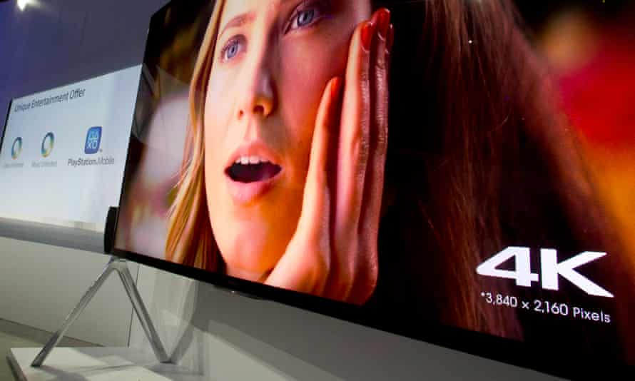 A Sony 85-inch Bravia XBR-X950B 4K television plays video after being unveiled during a Sony news conference at the Consumer Electronics Show (CES), in Las Vegas, Nevada, January 6, 2014. REUTERS/Steve Marcus (UNITED STATES - Tags: BUSINESS SCIENCE TECHNOLOGY) - GM1EA170WNA01