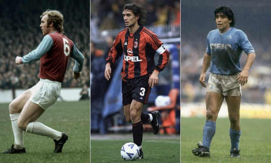 Bobby Moore, Paolo Maldini and Diego Maradona have all had their shirts retired.