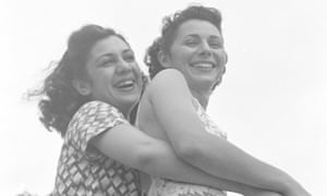 Helen Wachtel and Gladys Kamilhair, members of the International Ladies Garment Workers Union, relaxing at the union's resort, called Unity House, in the Pocono Mountains of Pennsylvania. Photograph by Hansel Mieth, Life, 1938
