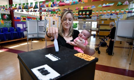 A voter in Ireland's abortion referendum on 25 May, 2018.