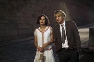 Marion Cotillard and Owen Wilson in Woody Allen film Midnight in Paris.