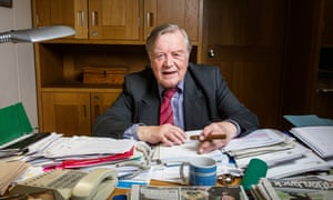 Ken Clarke MP in his office at Portcullis House, Westminster.