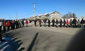 canada first nations suicide walk