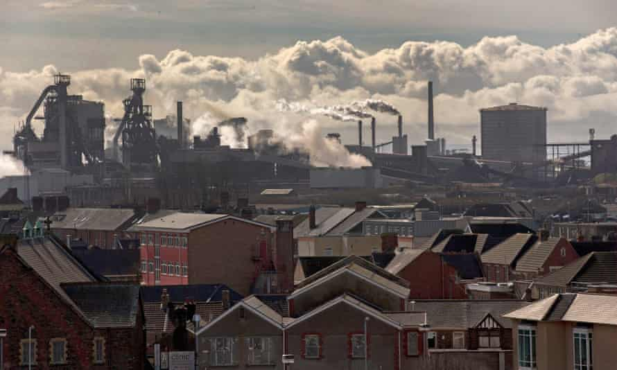 The Tata Steel plant at Port Talbot. According to reports, it uses as much electricity as nearby Swansea.