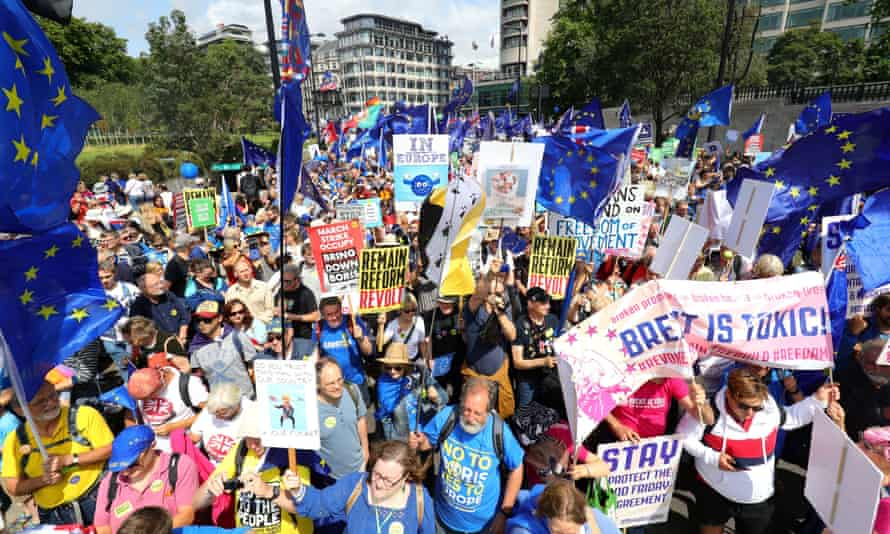 The March for Change in London in July.