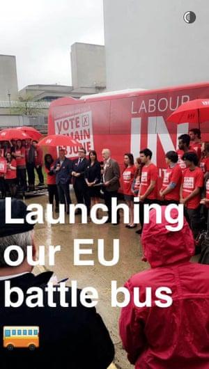 Snore! Corbyn's Snapchat.