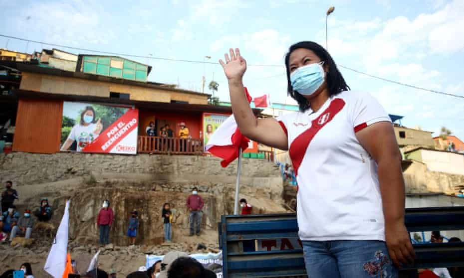 Keiko Fujimori at a campaign event on the outskirts of Lima in May.