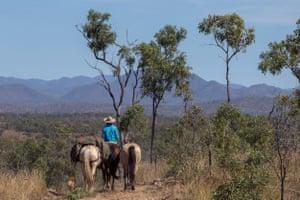Alienor Le Gouvello on the Bicentennial Trail through the Australian bush.