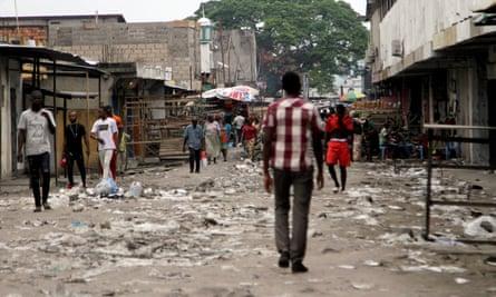 Streets in Kinshasa were unusually quiet.