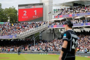 England needed two runs from the final ball to win or one to tie