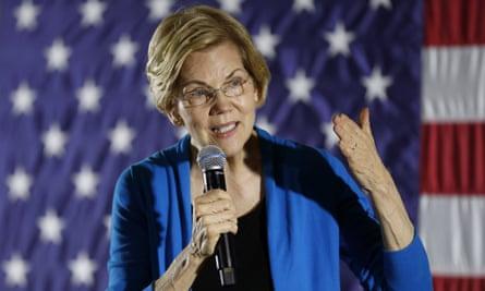 Elizabeth Warren speaks in Ames, Iowa.