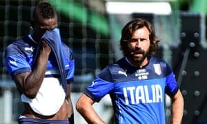 Mario Balotelli and Andrea Pirlo