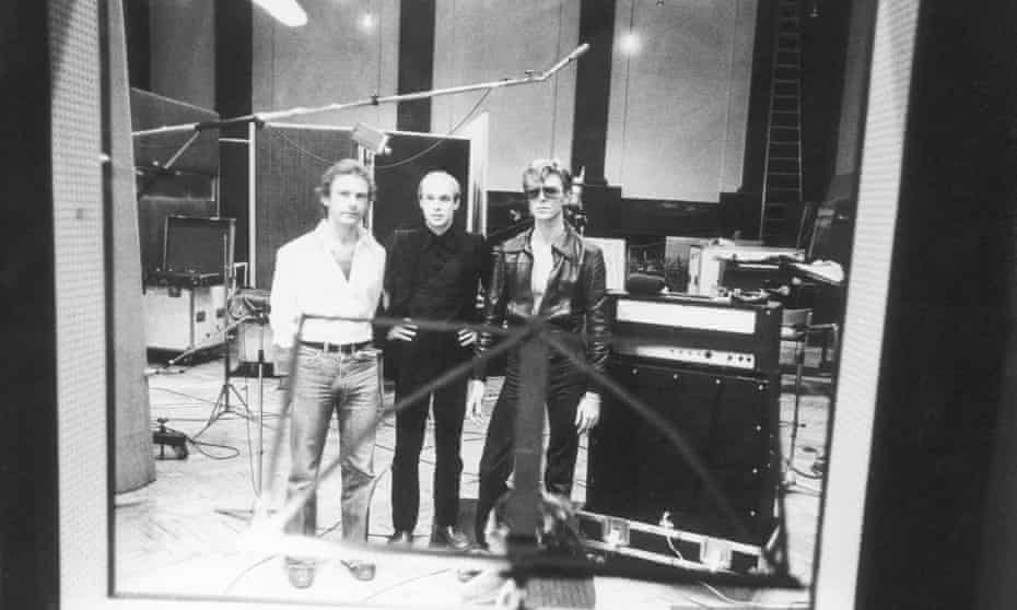 David Bowie at Hansa studio, Berlin.