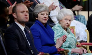 Joseph Muscat with T May and the Queen