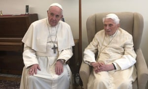 Pope Francis and the former pope Benedict XVI