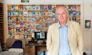 Author Philip Pullman in the Phoenix office in Oxford.