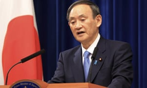 Japanese Prime Minister Yoshihide Suga held a New Year's press conference at his official residence in Tokyo on Monday
