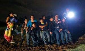 Central American immigrants being detained by authorities in Texas.