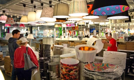 Peak home furnishings? An Ikea lighting department.