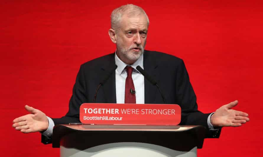 Jeremy Corbyn at the Scottish Labour Party conference