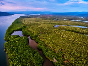 Aerial view of Cardamom national park, Cambodia