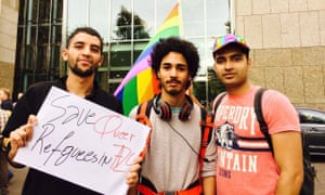 Space to be yourself … members of queer refugee group Sehaq.