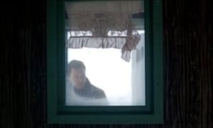 Michael Fassbender as Harry Hole in The Snowman, 2017, directed by Tomas Alfredson,