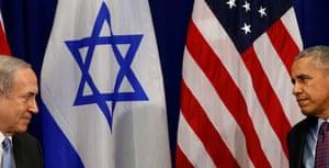 Barack Obama meets with Binyamin Netanyahu in New York in September.