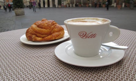 Coffee and pastry at Antico Caffè Vitti