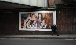 Boohoo poster on side of road