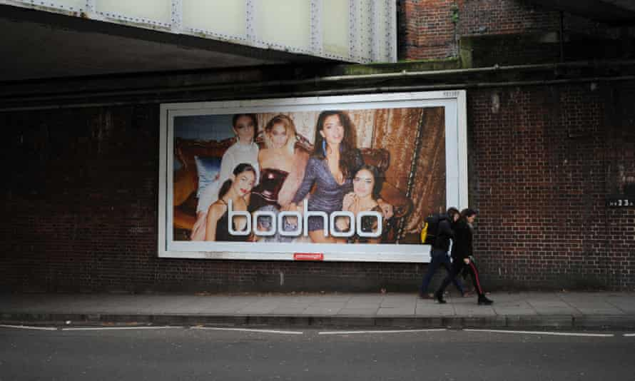 A billboard advert for Boohoo in East Finchley, London