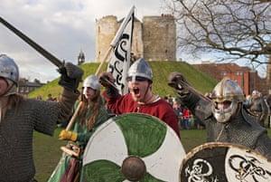 A Viking-themed festival near Clifford's Tower.
