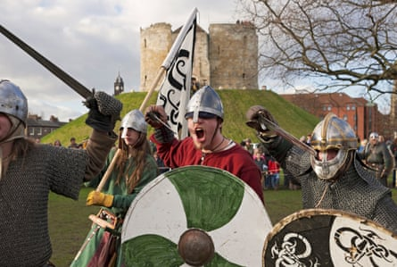 A Viking-themed festival near Clifford's Tower.