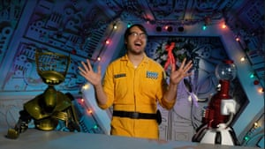 Jonah Ray in Netflix's reboot of Mystery Science Theater 2000