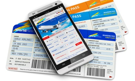 Mobile website offering airline tickets