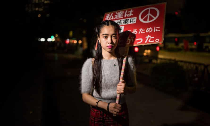 Erina Nakagawa, a Sealds protester against Japanese troops deploying overseas