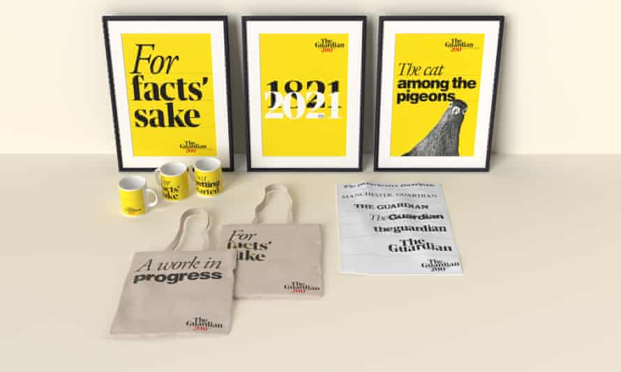 The winners will win a ticket to a Guardian Masterclass of their choice, a ticket to a Guardian Live event of their choice, and a merchandise pack of commemorative gifts to mark the 200th anniversary (pictured).