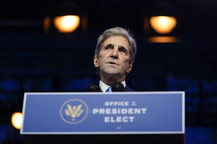 Biden's climate envoy nominee John Kerry.