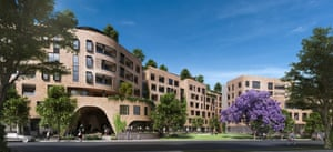 The exterior of Defence Housing Australia's new development Arkadia