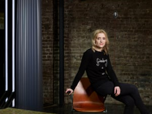 Actor Anne-Marie Duff was photographed at the Almeida Theatre in Islington, London