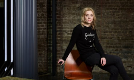 Anne-Marie Duff on the set of Oil at the Almeida theatre, London.