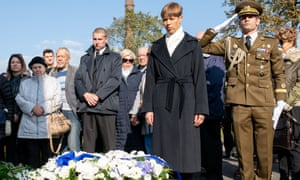 Mourners pay respect