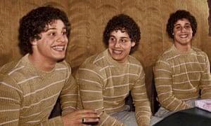 Eddy Galland, David Kellman and Robert Shafran, the triplets of Three Identical Strangers.