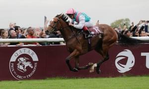 Frankie Dettori racing on Enable