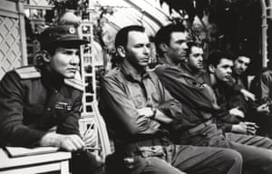 Henry Silva, Frank Sinatra and Laurence Harvey in The Manchurian Candidate