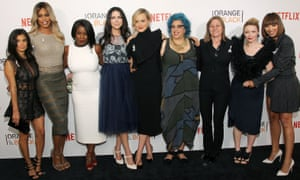 Stars and the writer of Orange Is the New Black at the New York premiere of season four.