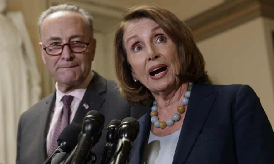 Senate Minority Leader Charles Schumer, here with House Minority Leader Nancy Pelosi, has said Trump should release his own tax returns.