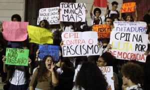 Brazilians protest against the election of Jair Bolsonaro and demand respect for democracy.